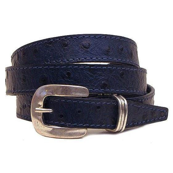 blue leather women's belt floto