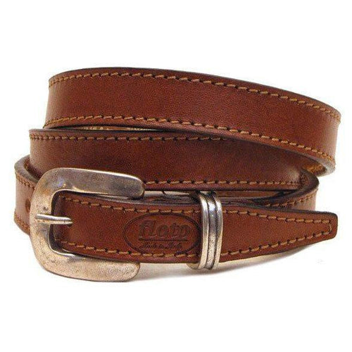 brown leather women's belt floto