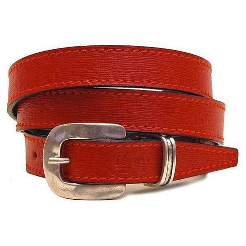 red leather women's belt floto