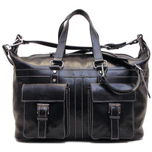 Load image into Gallery viewer, Floto Milano Italian Leather Travel Bag Weekender Suitcase black