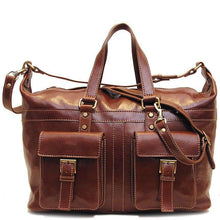 Load image into Gallery viewer, Milano Travel Bag in Vecchio Brown