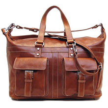 Load image into Gallery viewer, Floto Milano Italian Leather Travel Bag Weekender Suitcase 3