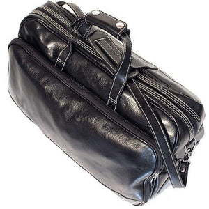 Floto Milano Italian leather rolling luggage duffle travel bag  3