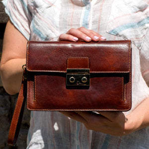 leather handbag satchel wristlet floto 3