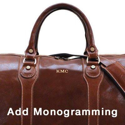 leather bag monogramming
