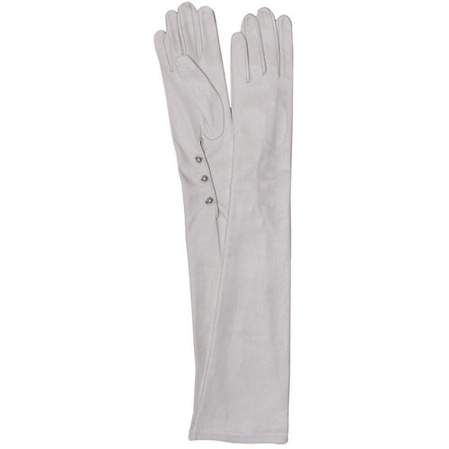 floto white women's formal opera leather gloves