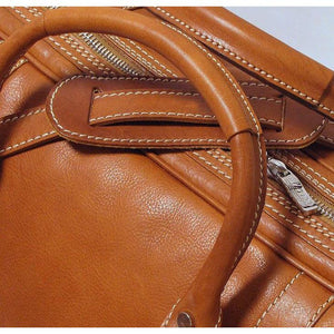 leather duffle bag floto