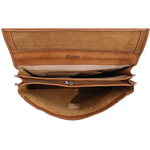 Load image into Gallery viewer, Floto Italian leather messenger bag briefcase Parma brown men's 7