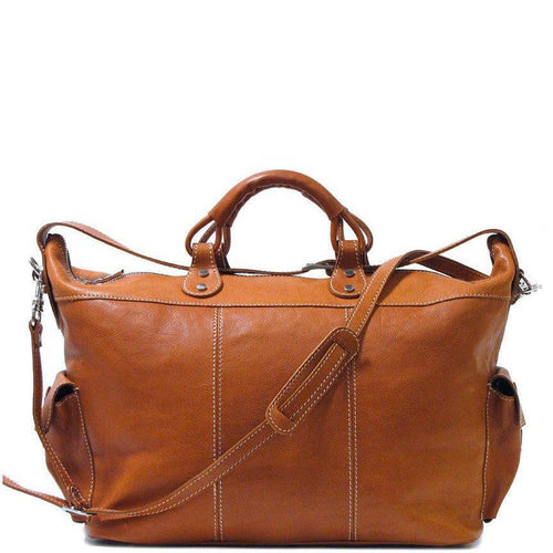 Floto Italian Parma Leather Travel Tote Duffle Bag