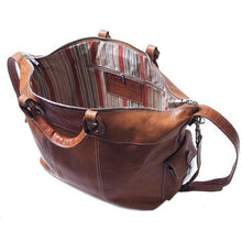 Load image into Gallery viewer, leather tote travel bag floto