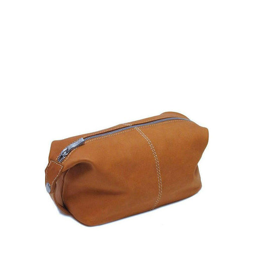 Floto Italian Parma leather dopp kit toiletry bag brown