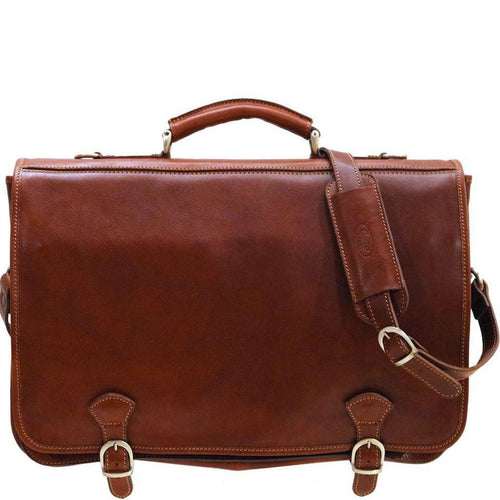 Italian leather messenger bag Floto Piazza