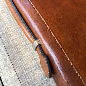 Leather portfolio document organizer folder briefcase 5