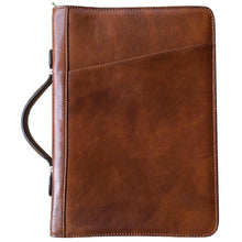 Load image into Gallery viewer, Floto Portofino Italian leather portfolio document organizer folder briefcase padfolio honey brown