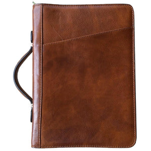 Floto Portofino Italian leather portfolio document organizer folder briefcase padfolio honey brown