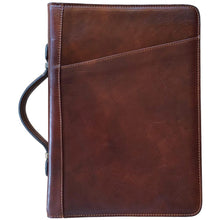Load image into Gallery viewer, Floto Portofino Italian leather portfolio document organizer folder briefcase padfolio brown