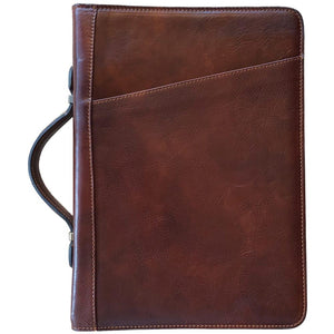 Floto Portofino Italian leather portfolio document organizer folder briefcase padfolio brown