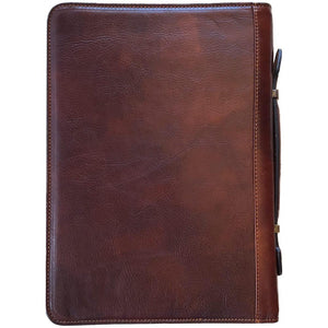 Leather portfolio document organizer folder briefcase 3