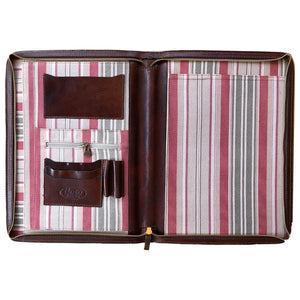 Leather portfolio document organizer folder briefcase 4