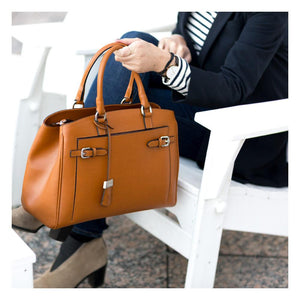 Leather Handbag Floto Rapallo Bag