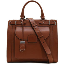 Load image into Gallery viewer, Leather Tote Bag Handbag Rapallo Floto brown