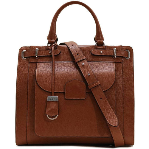 Leather Tote Bag Handbag Rapallo Floto brown