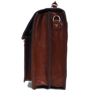 Leather Roller Buckle Briefcase Floto Novella end