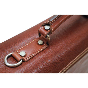 Leather Roller Buckle Briefcase Floto Novella handle