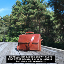 Load image into Gallery viewer, Leather Roller Buckle Briefcase Floto Novella Nantucket