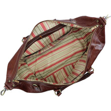 Load image into Gallery viewer, Floto Italian Leather Capri Trolley Rolling Luggage Carryon Duffle Travel Bag Brown 5