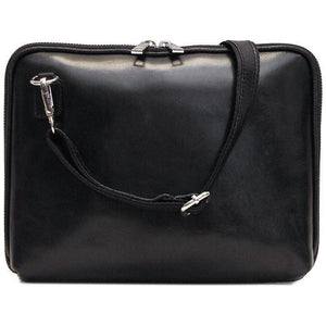 Floto Italian Leather Roma tablet case bag black