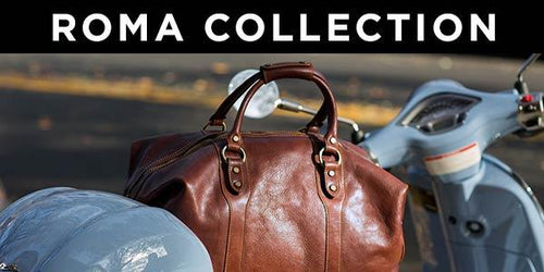 Floto Roma Italian Leather Travel Duffle Bags