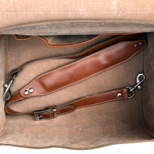 Load image into Gallery viewer, Leather Motorcycle Scooter Top Case Bag Brown strap
