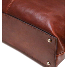 Load image into Gallery viewer, leather shopping tote bag floto firenze brown