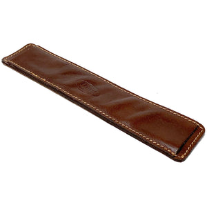 Leather Luggage Strap Pad brown