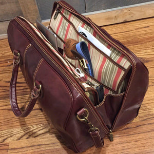 leather duffle bag laptop organizer briefcase floto