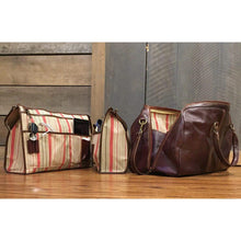 Load image into Gallery viewer, leather duffle bag laptop organizer briefcase floto