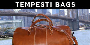 Floto Tempesti Leather Travel Duffle Bag Collection