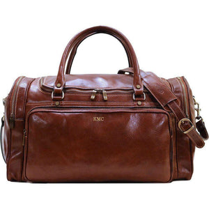 leather duffle bag floto monogram