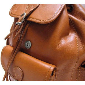 Leather backpack floto toscana brown 4