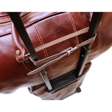 Load image into Gallery viewer, Rolling Luggage Leather Trolley Strap Keeper Floto