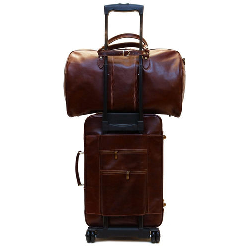 Rolling Luggage Leather Trolley Strap Keeper Floto