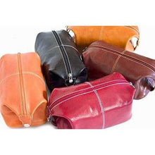 Load image into Gallery viewer, leather toiletry bag dopp kit