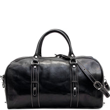 Load image into Gallery viewer, Floto Italian Leather Venezia Piccola Duffle Travel Bag Carryon black