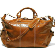 Load image into Gallery viewer, Floto Italian Leather Venezia Travel Tote Bag Duffle Luggage olive brown