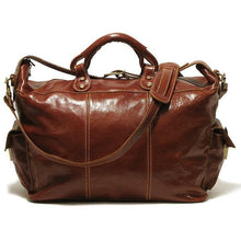 Load image into Gallery viewer, Floto Italian Leather Venezia Travel Tote Bag Duffle Luggage brown