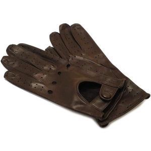 Floto women's brown leather driving gloves