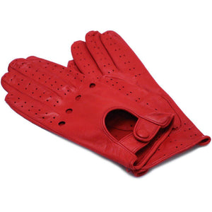 Floto women's red leather driving gloves