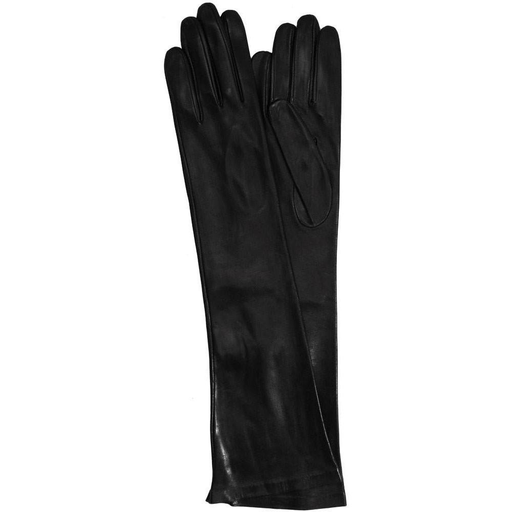 Floto women's cashmere lined black leather Floto evening gloves
