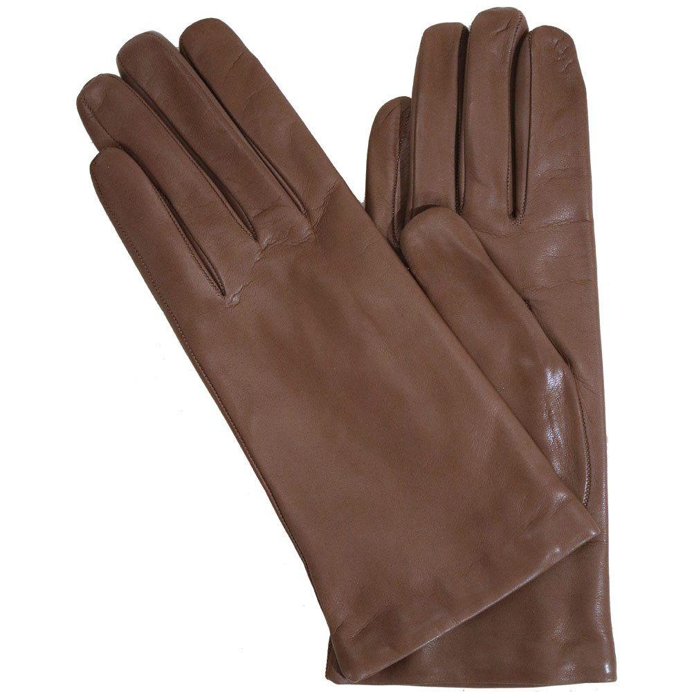 Floto women's cashmere lined beige leather gloves